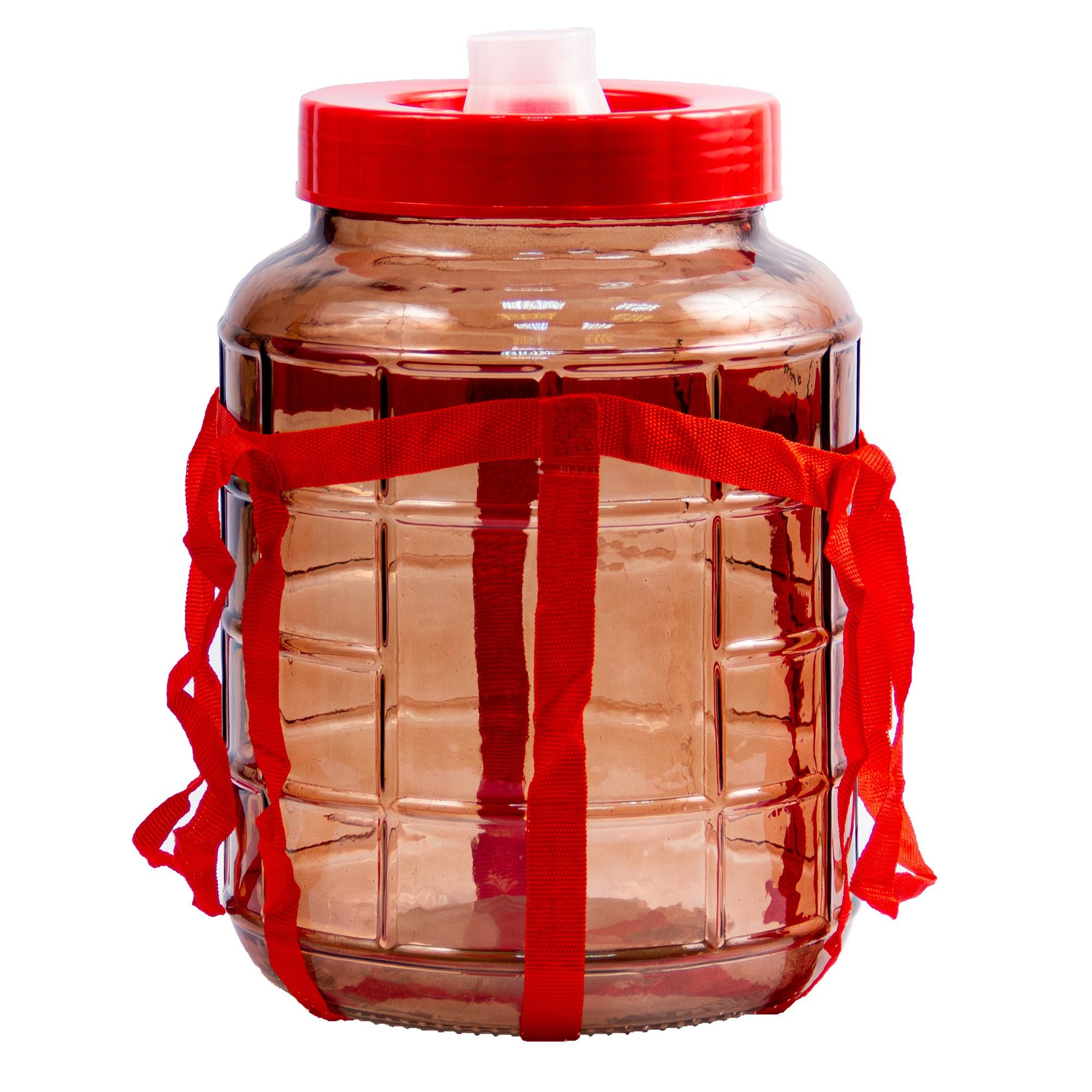 Бутыль с гидрозатвором 25л. коричневая