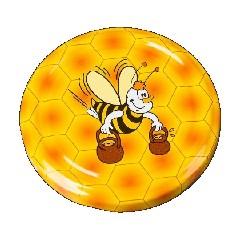 """Крышка 82 """"Пчелка с ведрами"""" (кор.750)"""